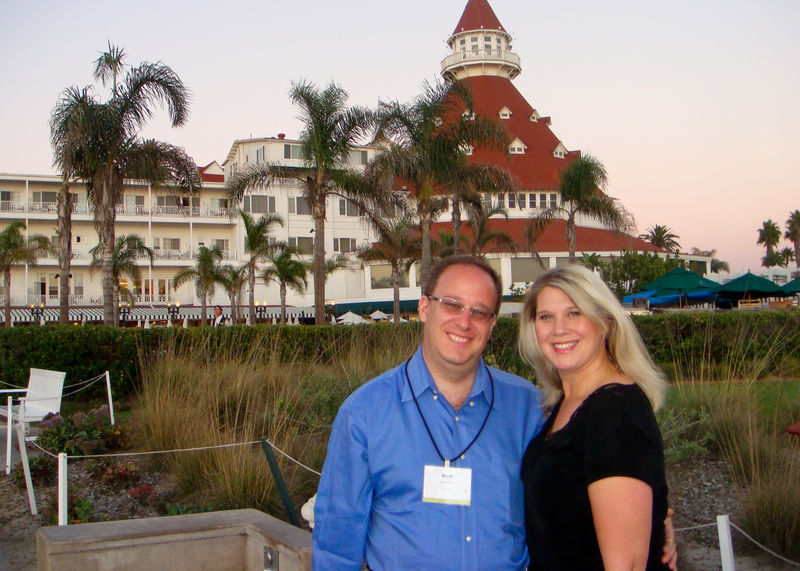 Mark and I at the Hotel Del Coronado
